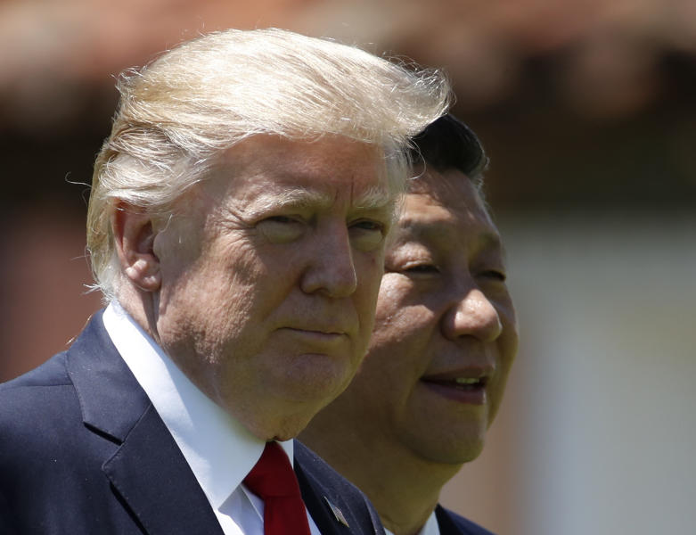 "<p> FILE - In this April 7, 2017, file photo, U.S. President Donald Trump, left, and Chinese President Xi Jinping walk together at Mar-a-Lago in Palm Beach, Fla. Following his meeting with Chinese leader Xi Jinping, U.S. President Donald Trump stepped on a historical land mine when he told the Wall Street Journal that ""Korea actually used to be a part of China."" (AP Photo/Alex Brandon, File) </p>"