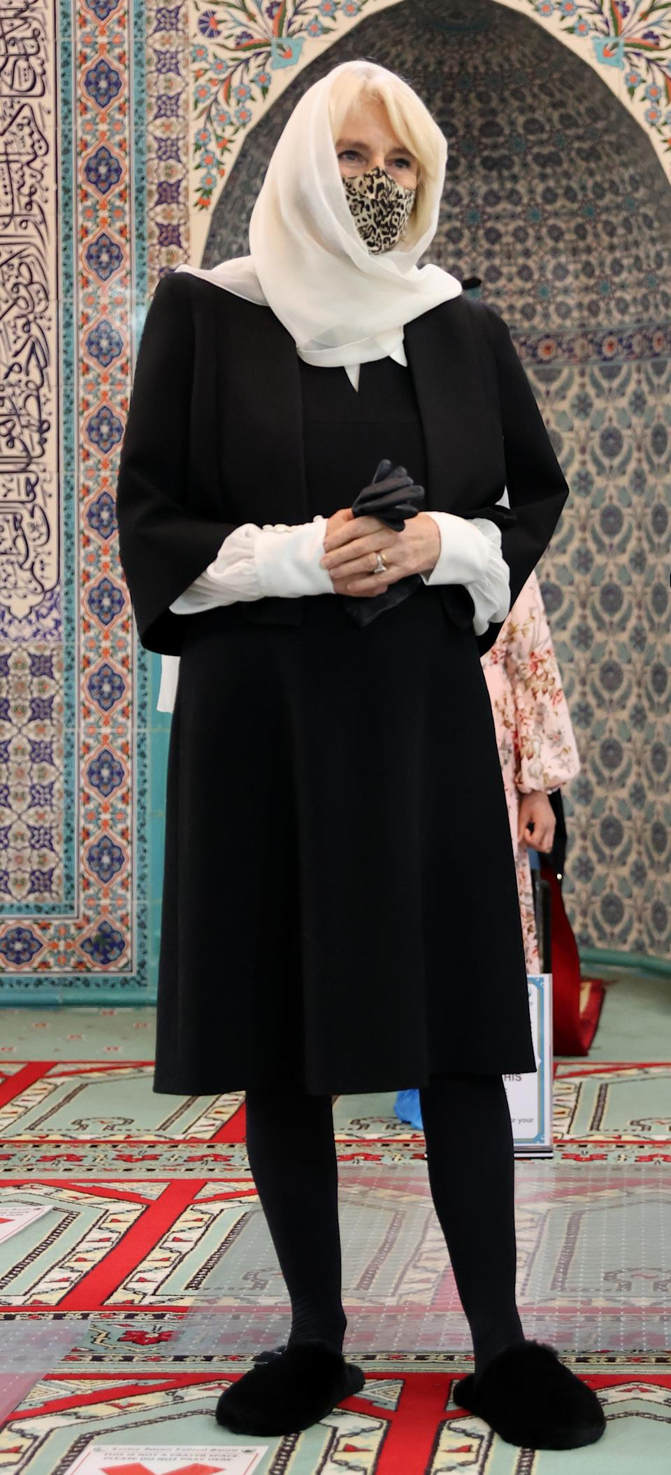The Duchess of Cornwall visited Wightman Road Mosque on 7 April in London, England. (Getty Images)