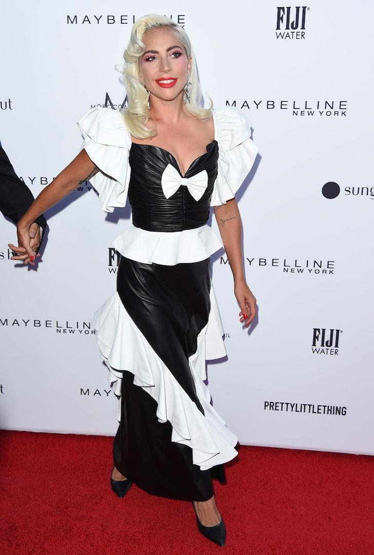 <p>A star was born on the red carpet (sorry), as Lady Gaga chose a monochrome Rodarte dress of dreams at the Daily Front Row Awards. <em>[Photo: Getty]</em> </p>