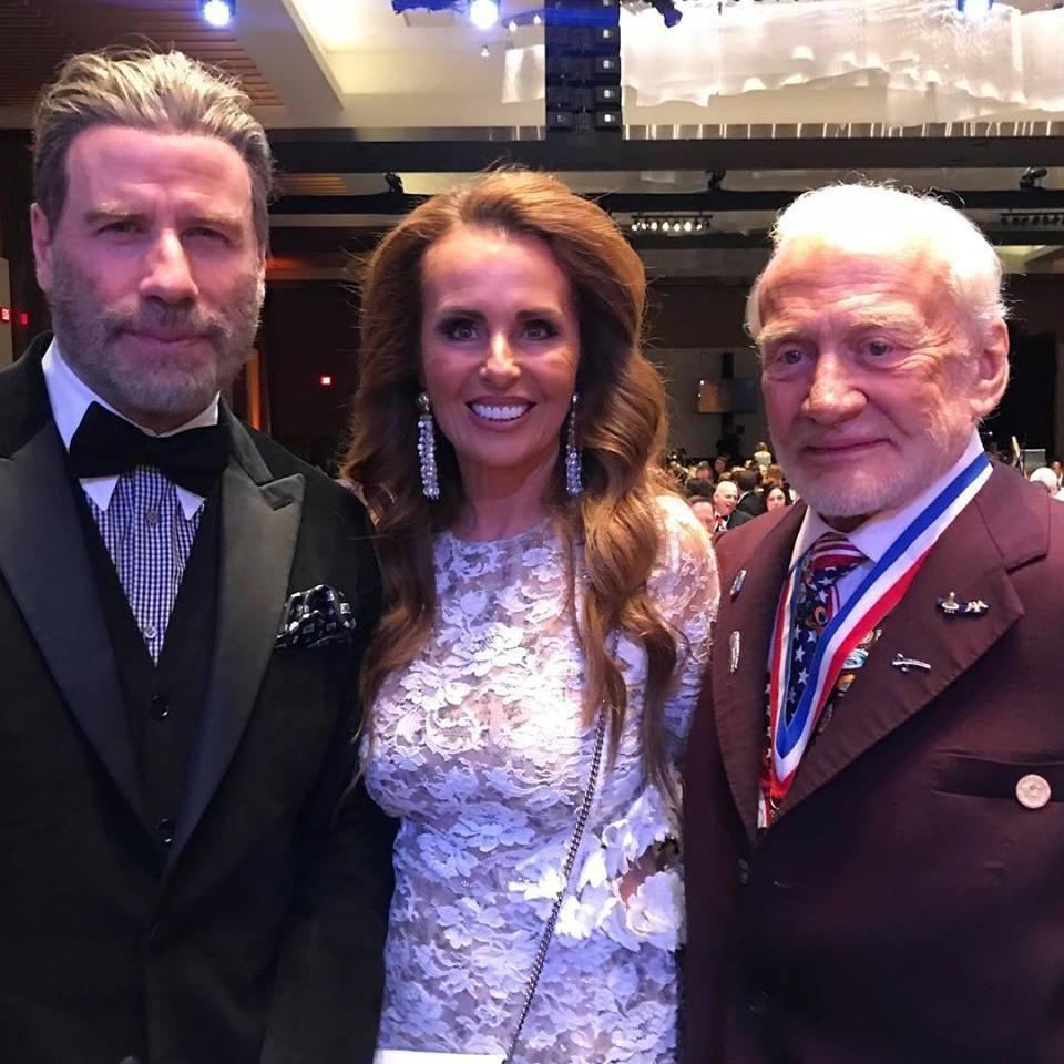 Just hanging out with John Travolta and Buzz Aldrin. Photo: Supplied