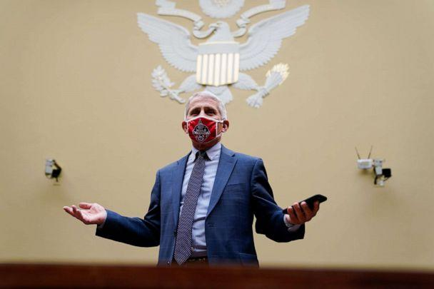 Dr. Anthony Fauci, director of the National Institute of Allergy and Infectious Diseases, arrives for a House Select Subcommittee on the Coronavirus Crisis hearing on a national plan to contain the COVID-19 pandemic on Capitol Hill, July 31, 2020. (Pool/Getty Images)