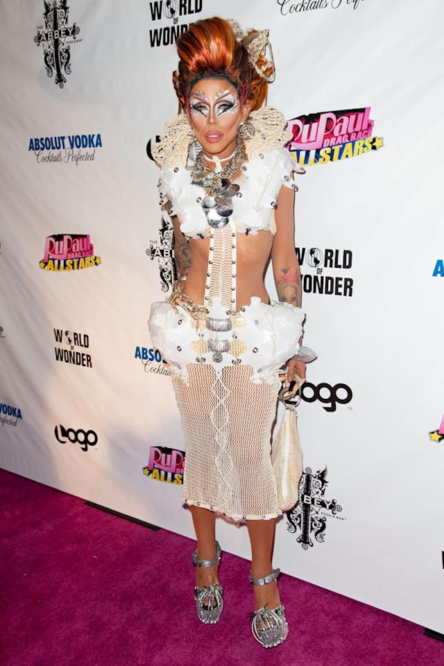 """Yara Sofia arrives at the """"RuPaul's Drag Race: All Stars"""" Premiere Party at The Abbey on October 16, 2012 in West Hollywood, California."""