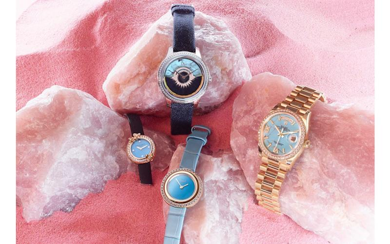 Why bold and beautiful turquoise dials are making a comeback in women's watches