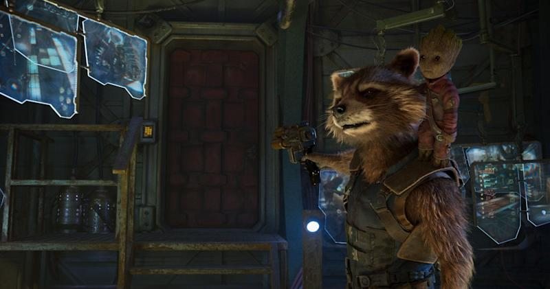 Rocket Raccoon in Guardians of the Galaxy Vol. 2 (Credit: Marvel/Disney)