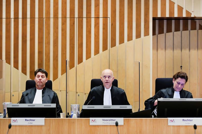 Malaysia Airlines flight MH17 trial in Badhoevedorp