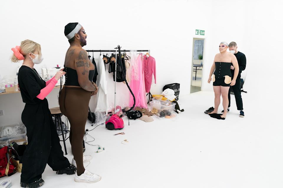 For the final show of the series, Rob and Romesh will become Drag Queens.  (Sky)