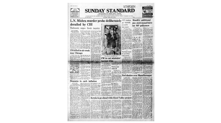 V M Tarkunde, LN Mishra inquiry, Indira Gandhi, US air crash 1979, May 27 crash, Forty years ago, indian express
