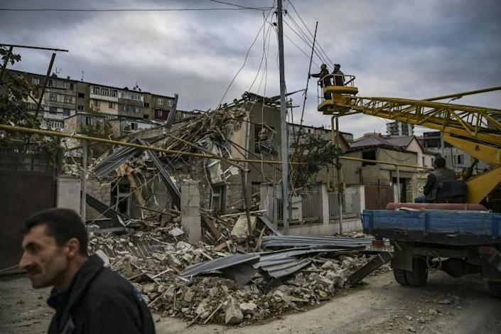 Houses throughout Stepanakert have been destroyed by artillery fire