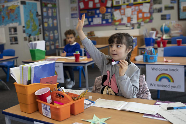 Some Reception, Year 1 and Year 6 pupils returned to school last week, but the government has abandoned plans for other primary school year groups to join them. (Dan Kitwood/Getty Images)