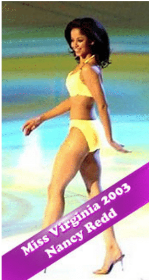 Nancy won the Miss America swimsuit competition in 2003.