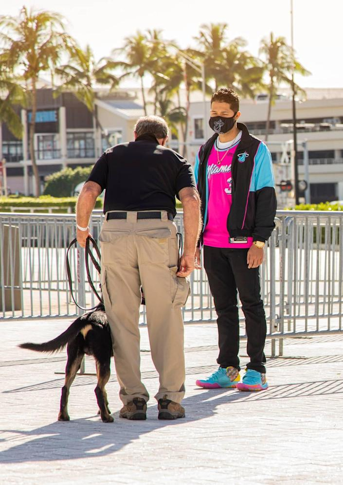 As the Miami Heat works to plan for a safe return to AmericanAirlines Arena for all involved, including fans, testing might be offered upon entry. That includes the possibility of COVID-19 detector dogs