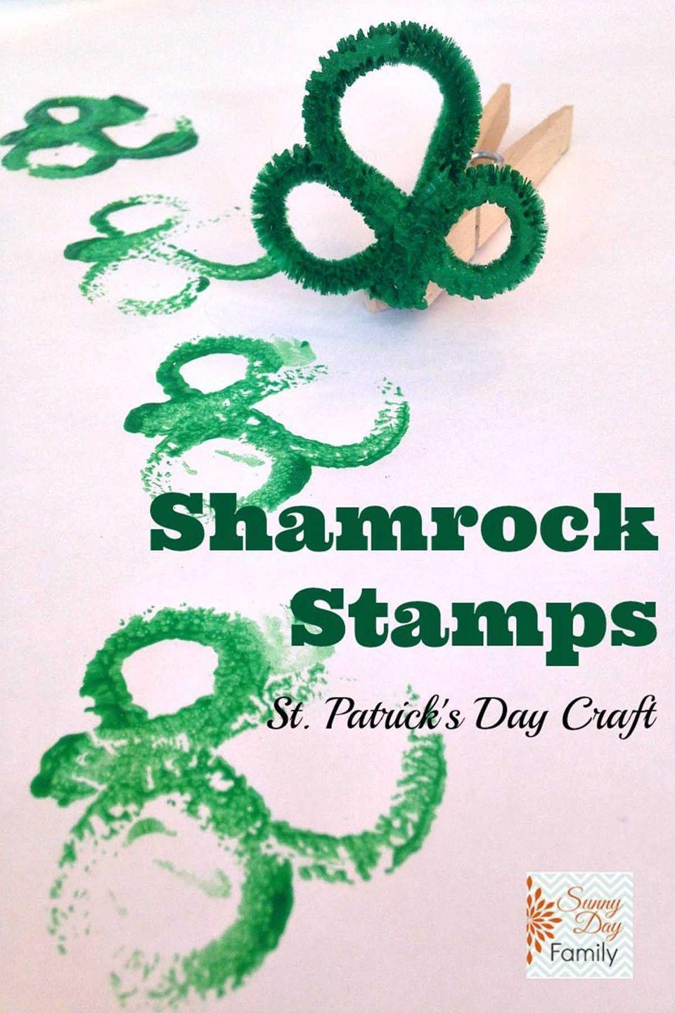 """<p>Make <a href=""""https://www.womansday.com/style/beauty/g2220/st-patricks-day-nail-art/"""" rel=""""nofollow noopener"""" target=""""_blank"""" data-ylk=""""slk:shamrock shapes"""" class=""""link rapid-noclick-resp"""">shamrock shapes</a> for cards, gifts, and more with these DIY stamps.</p><p><em>Get the tutorial at <a href=""""http://www.sunnydayfamily.com/2015/02/shamrock-stamps.html"""" rel=""""nofollow noopener"""" target=""""_blank"""" data-ylk=""""slk:Sunny Day Family"""" class=""""link rapid-noclick-resp"""">Sunny Day Family</a>.</em> </p>"""