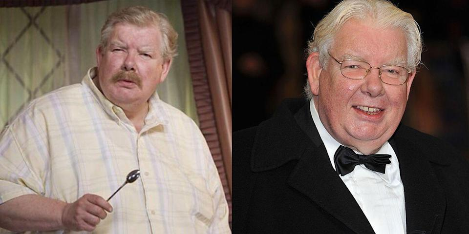 """<p><strong>First Film: </strong><em>Harry Potter and the Sorcerer's Stone</em></p><p><strong>Character Played: </strong>Vernon Dursley</p><p>Griffiths died at the age of 65 in 2013. <a href=""""https://www.bbc.com/news/uk-21973505"""" rel=""""nofollow noopener"""" target=""""_blank"""" data-ylk=""""slk:At the time, Radcliffe said,"""" class=""""link rapid-noclick-resp"""">At the time, Radcliffe said,</a> """"Richard was by my side during two of the most important moments of my career. I was proud to know him.""""</p>"""