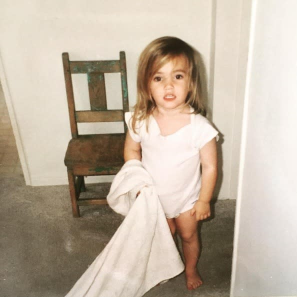 """<p>Emma Roberts, introducing some of her first acquaintances: """"Happy Friday from little me, blankey, and time out chair"""" -<a href=""""https://www.instagram.com/p/BHnaso0AedQ/?taken-by=emmaroberts"""" rel=""""nofollow noopener"""" target=""""_blank"""" data-ylk=""""slk:@emmaroberts"""" class=""""link rapid-noclick-resp"""">@emmaroberts</a> (Instagram) </p>"""