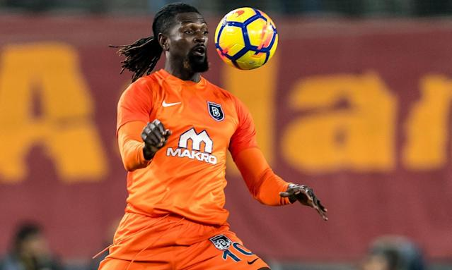 Emmanuel Adebayor in action for Basaksehir.
