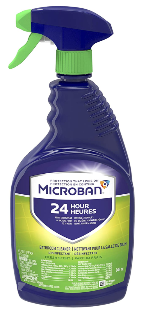 Microban 24-Hour Bathroom Cleaner and Sanitizing Spray