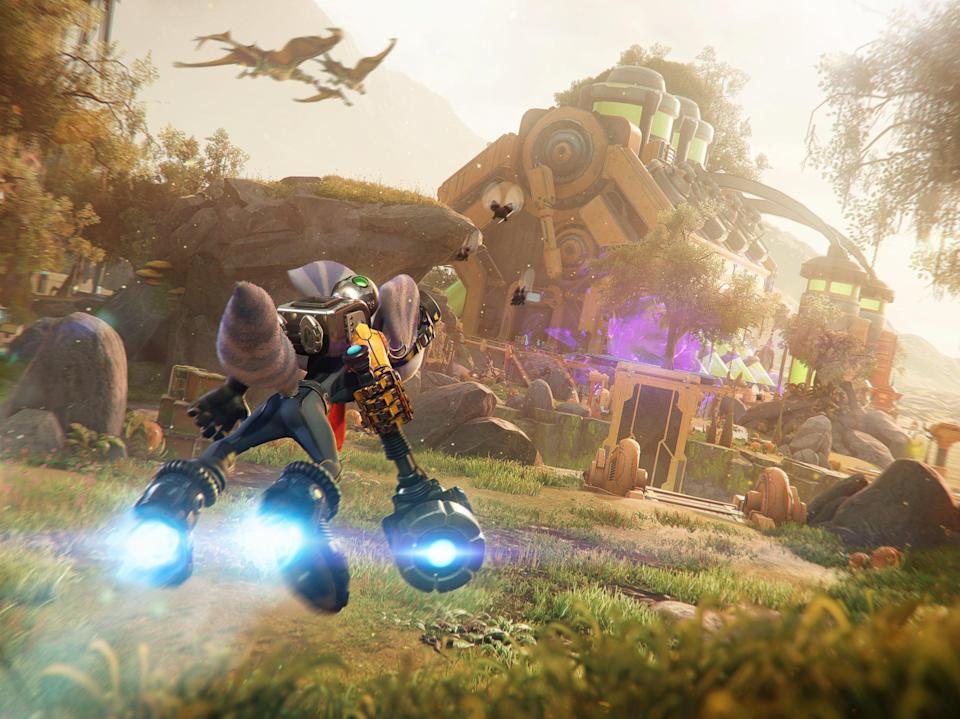 A still from Ratchet & Clank: Rift Apart, captured on PS5 (Sony Interactive Entertainment)