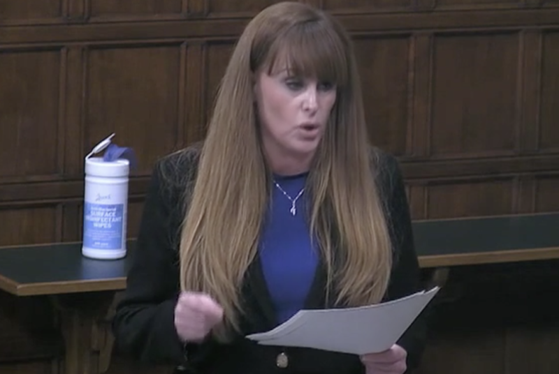 Kelly Tolhurst was the only Conservative to attend the debate – but this was in her capacity as a communities minister. (Parliamentlive.tv)