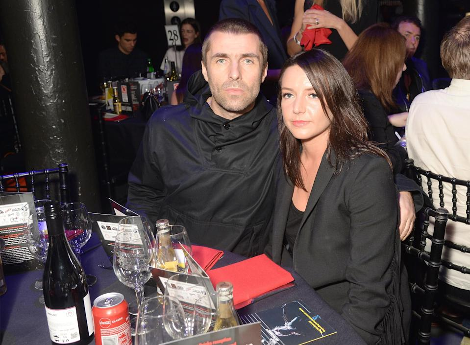 Liam Gallagher and Debbie Gwyther at The Q Awards 2017. (Getty Images)