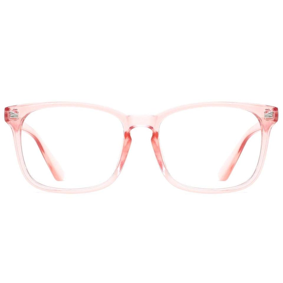 """<p>Show off your personality with these fun pink <a href=""""https://www.popsugar.com/buy/TIJN-Blue-Light-Blocking-Glasses-409954?p_name=TIJN%20Blue%20Light%20Blocking%20Glasses&retailer=amazon.com&pid=409954&price=16&evar1=savvy%3Aus&evar9=45742093&evar98=https%3A%2F%2Fwww.popsugar.com%2Fsmart-living%2Fphoto-gallery%2F45742093%2Fimage%2F45742099%2FTIJN-Blue-Light-Blocking-Glasses&list1=tech%2Cdigital%20life%2Cglasses%2Cscreen%20time%2Chealthy%20living%20tips%2Chealth%20and%20wellness&prop13=mobile&pdata=1"""" rel=""""nofollow"""" data-shoppable-link=""""1"""" target=""""_blank"""" class=""""ga-track"""" data-ga-category=""""Related"""" data-ga-label=""""https://www.amazon.com/TIJN-Blocking-Glasses-Eyeglasses-Computer/dp/B07DRHG6MY/ref=sr_1_3?ie=UTF8&amp;qid=1549041139&amp;sr=8-3&amp;keywords=blue+light+blocking+glasses"""" data-ga-action=""""In-Line Links"""">TIJN Blue Light Blocking Glasses</a> ($16).</p>"""
