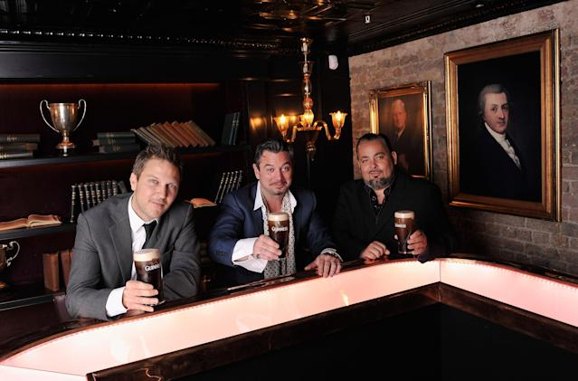 Fast, Huey Morgan and Frank aka The Rhythm Master of Fun Lovin' Criminals at the Guinness Storehouse in 2012. (Getty Images)