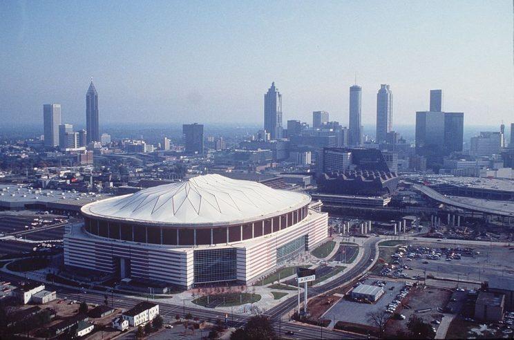 Once upon a time, the Georgia Dome was Atlanta's crown jewel. No longer. (File photo, Allsport)