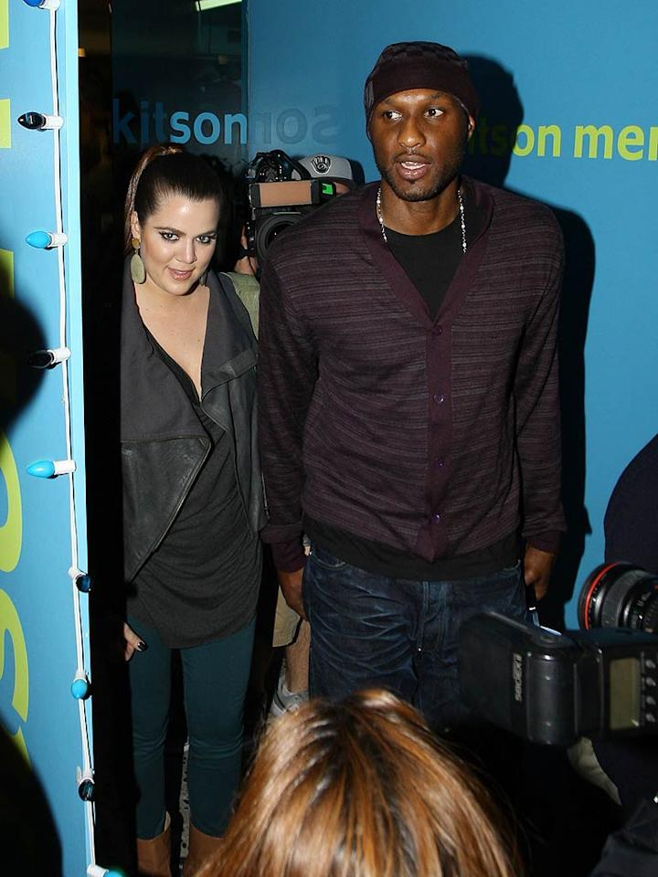"""Scratch that. Turns out the two brought a camera crew with them to shoot an episode of their reality show """"Khloe and Lamar."""" (12/1/2011)"""
