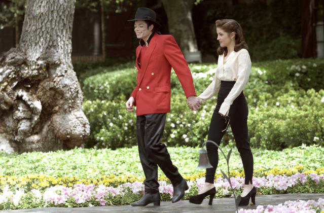 """<p>Priscilla didn't approve of the relationship, and thought Michael was using Lisa to improve his reputation. """"'Oh, you don't like him? Good. He's going to be my husband,'"""" Lisa told ABC News of the mother-daughter rift over Jackson. """"It was terrible."""" The singing sensation had been accused of molesting a 13-year-old boy and, while never charged, settled a civil suit filed by the boy's family out of court. (Photo: Kim Kulish/Sygma via Getty Images) </p>"""