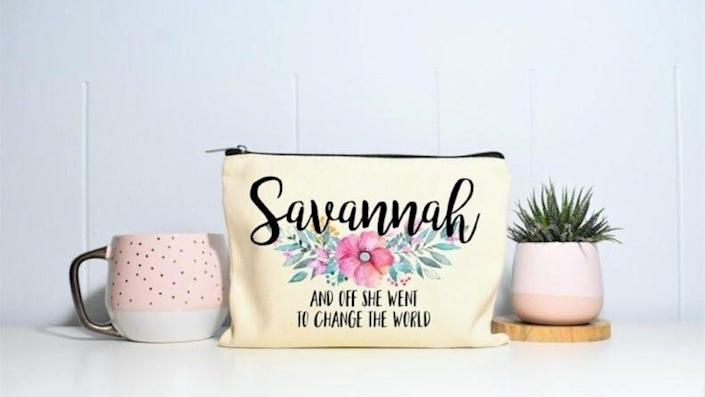 For the grad who will do big things: Graduation makeup bag