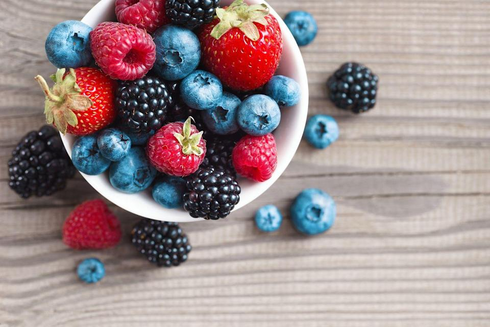 """<p>Berries will naturally brighten your dish and supply hunger-curbing fiber to satisfy sweet cravings. Their gem-like hues are a great indicator of their nutrient concentration. """"Dark pigmentation and rich color means the berries are high in disease-fighting antioxidants and phytochemicals,"""" Mirkin explains.</p><p><strong>Try it: </strong><a href=""""https://www.prevention.com/food-nutrition/recipes/g22038183/berry-fruit-recipes/"""" rel=""""nofollow noopener"""" target=""""_blank"""" data-ylk=""""slk:6 Creative (and Delicious) Ways to Eat More Berries"""" class=""""link rapid-noclick-resp"""">6 Creative (and Delicious) Ways to Eat More Berries</a></p>"""