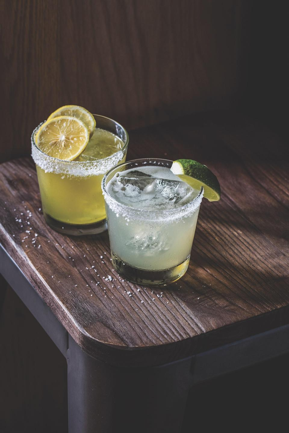 "This spicy tequila drink riffs on the margarita, adding in fresh jalapeños and using deeply flavorful grade B maple syrup for the sweetener. <a href=""https://www.epicurious.com/recipes/food/views/retox-tequila-cocktail-sother-teague?mbid=synd_yahoo_rss"" rel=""nofollow noopener"" target=""_blank"" data-ylk=""slk:See recipe."" class=""link rapid-noclick-resp"">See recipe.</a>"