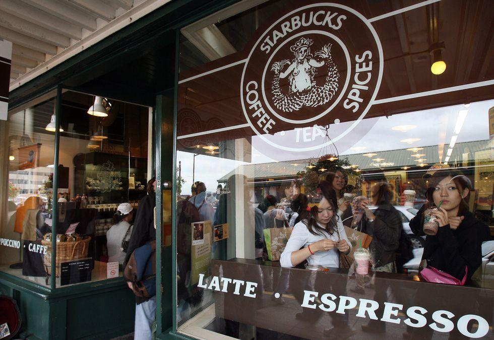 <p>Before Starbucks was a global chain, it was just a popular coffee shop in Pike Place Market in Seattle, WA. The original store that started it all opened in 1971. </p>