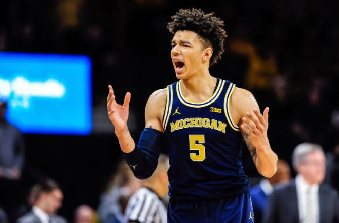 Michigan's Big Ten title hopes suffered a blow when redshirt sophomore D.J. Wilson announced he would forego his final