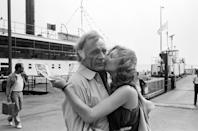 <p>Richard Burton and Tatum O'Neal on the set of <em>Circle of Two </em>in 1979.</p>