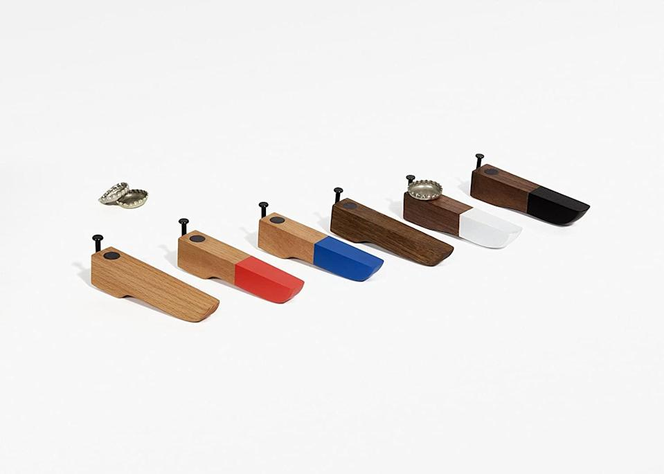 """<h2>Areaware Bottle Opener<br></h2><br>A simple, aesthetically-pleasing option for your most design-minded loved one. <br><br><strong>Areaware</strong> Areaware Bottle Opener, $, available at <a href=""""https://www.amazon.com/dp/B00J98INBM"""" rel=""""nofollow noopener"""" target=""""_blank"""" data-ylk=""""slk:Areaware"""" class=""""link rapid-noclick-resp"""">Areaware</a>"""