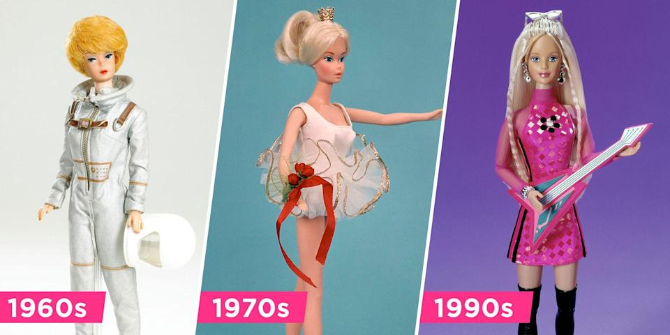 <p>Like all of us, Barbie's look has changed over the years. From '60s eyeliner to '80s hair, she's tried virtually every trend the decades had to offer. We're taking a trip down toy memory lane in honor of our favorite doll — and her fab friends. </p>