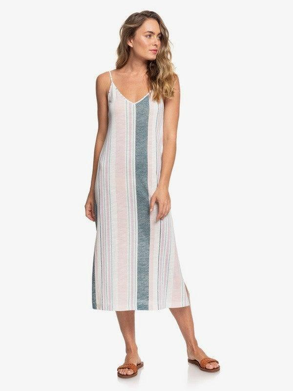 """Score an <a href=""""https://www.roxy.com/women-dresses-sale/"""" rel=""""nofollow noopener"""" target=""""_blank"""" data-ylk=""""slk:additional 30% off all sale styles"""" class=""""link rapid-noclick-resp"""">additional 30% off all sale styles</a> at Roxy. <br> <br> <strong>Roxy</strong> Avila Beach Strappy Midi Dress, $, available at <a href=""""https://go.skimresources.com/?id=30283X879131&url=https%3A%2F%2Fwww.roxy.com%2Favila-beach-strappy-midi-dress-192504697609.html"""" rel=""""nofollow noopener"""" target=""""_blank"""" data-ylk=""""slk:Quiksilver"""" class=""""link rapid-noclick-resp"""">Quiksilver</a>"""