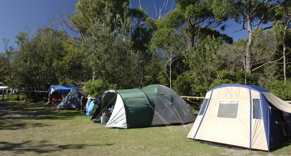 A campground in Booderee National Park.