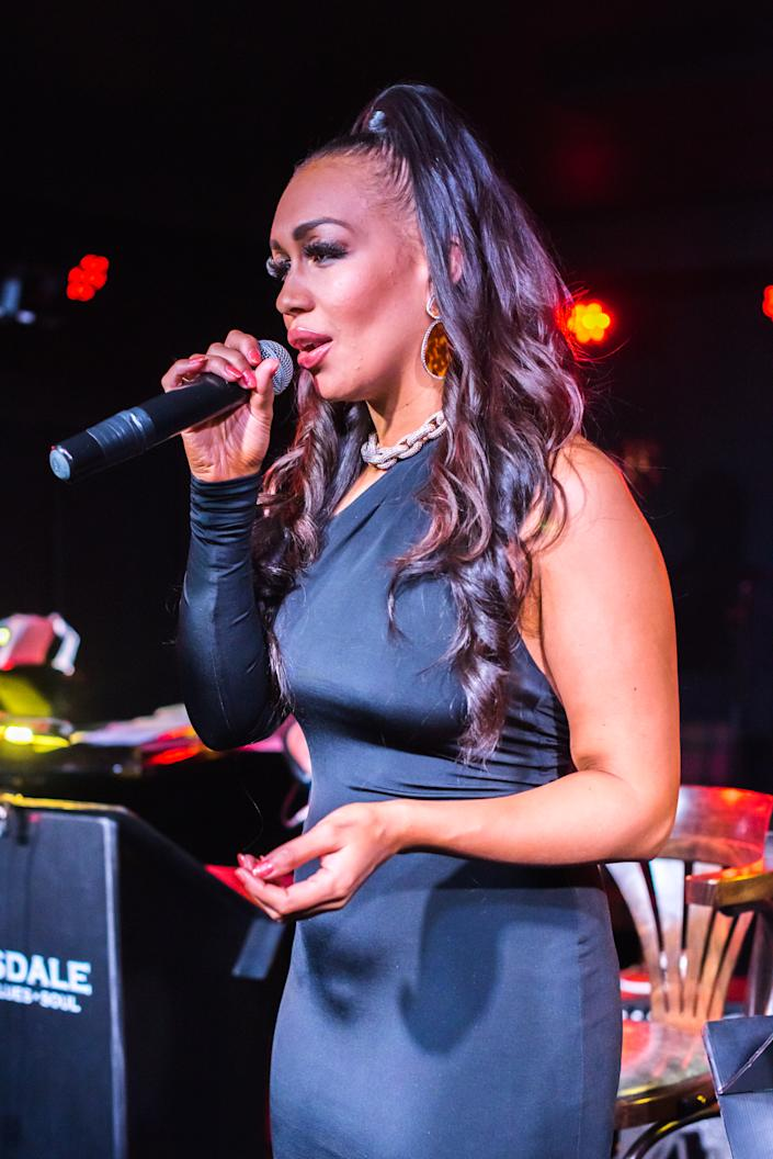 Rebecca Ferguson performs live at Boisdale of Canary Wharf on January 7, 2019 in London, England.  (Photo by Robin Little/Redferns)