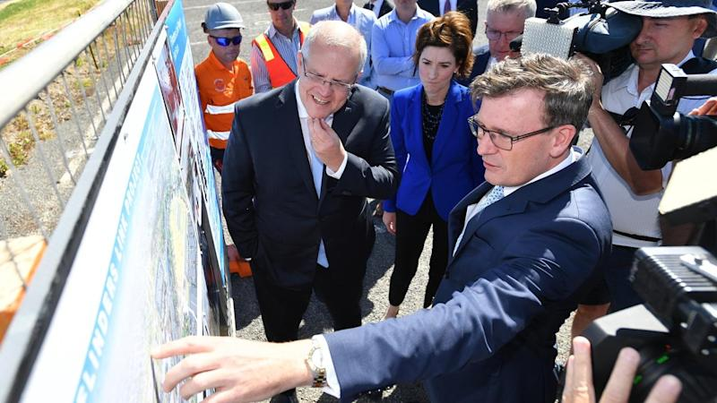 Scott Morrison has announced a deal with South Australia to fast-track road and rail projects