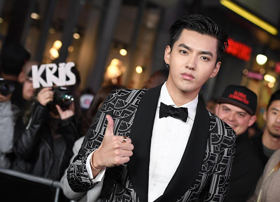 Kris Wu attends the premiere of  xXx: Return Of Xander Cage in 2017 (AFP via Getty Images)