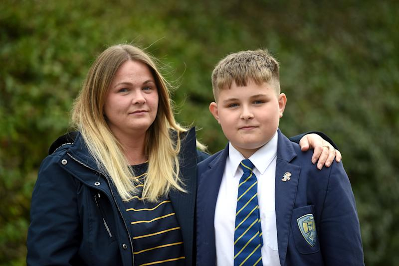 Jason Kirkbride pictured with mum Kelly Smith. [Photo: SWNS]