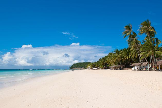<strong>2. Shangri-La's Boracay Resort & Spa: Sanctuary on the Party Isle</strong><br /><br />Named as Travel + Leisure's top island destination in 2012, Boracay has earned a reputation not just for its powder-fine white sand and Evian-esque sparkling waters, but also its lively atmosphere thick with bikini-clad beauties and muscled hunks bumping and grinding till the wee hours of the morning.