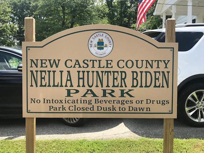 Biden's first wife, Neilia Hunter Biden, mother to the late Beau and Hunter Biden, is not forgotten in Delaware.  A park in the Roselle-Brack-Ex neighborhood near Elsmere was dedicated in her name 45 years ago on June 7, 1975.