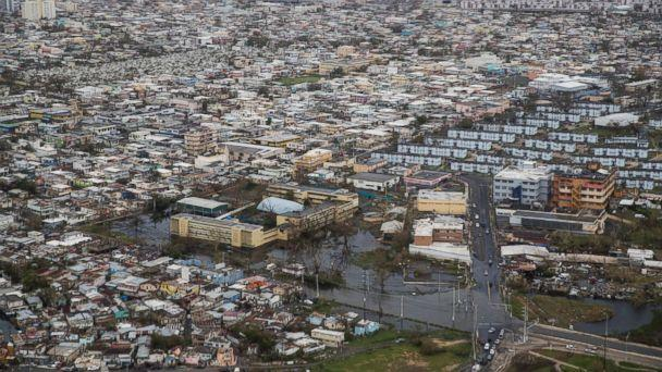 PHOTO: An aerial photo shows San Juan, Puerto Rico, days after the island was hit by Hurricane Maria, Sept. 22, 2017. (Victor J. Blue/The New York Times via Redux)