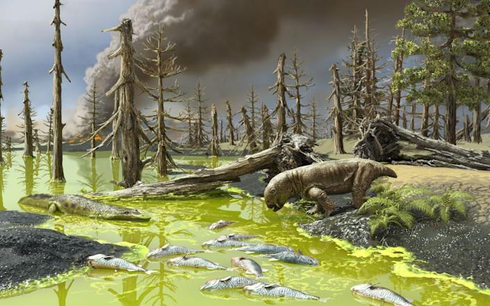 Rivers and lakes turned into toxic soup (University of Connecticut)