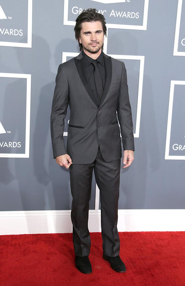 Juanes arrives at the 55th Annual Grammy Awards at the Staples Center in Los Angeles, CA on February 10, 2013.
