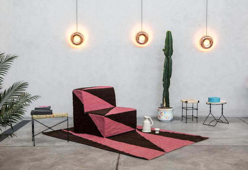 Fabien Cappello collaborated with local artisans on this rug-slash-chair and other items for Room With A View, an environment he created in 2017 for Dos Casas Hotel's project space, The Garage.