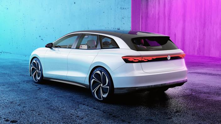 """VW has pulled its wonderful Golf Sportwagen/Alltrack from the U.S. market. But this electric wagon concept is coming to replace it. It has 300 miles of range, ruggedly handsome looks, and amazing utility—like <a href=""""https://www.architecturaldigest.com/gallery/proof-station-wagons-newest-status-symbol?mbid=synd_yahoo_rss"""" rel=""""nofollow noopener"""" target=""""_blank"""" data-ylk=""""slk:most contemporary station wagons"""" class=""""link rapid-noclick-resp"""">most contemporary station wagons</a>."""
