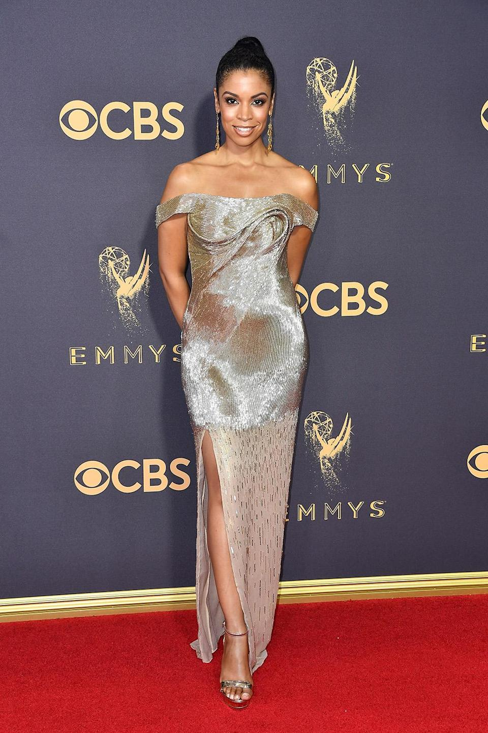 <p>Susan Kelechi Watson attends the 69th Annual Primetime Emmy Awards on September 17, 2017.<br> (Photo: Getty Images) </p>